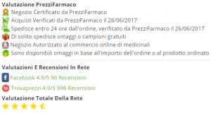 valutazione prezzifarmaco farmacia online